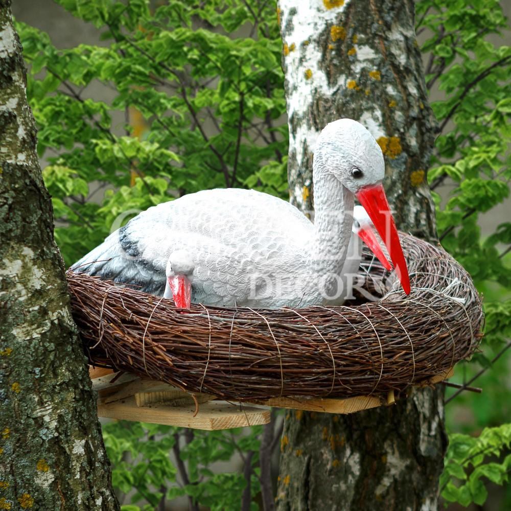 Гнездо аиста для сада своими руками