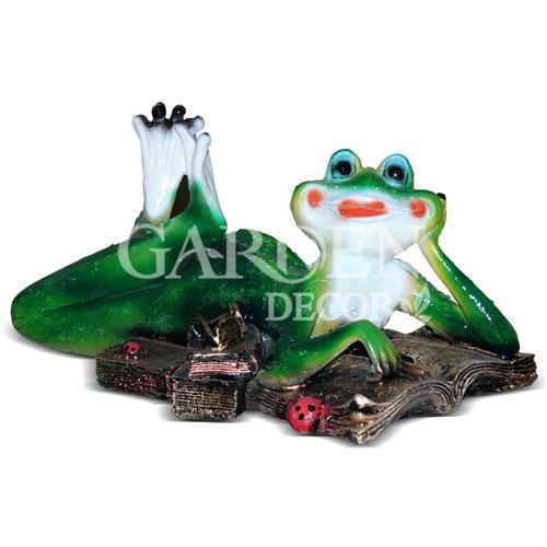 Декоративная фигура Лягушка с книгой