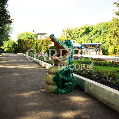 Парковая урна крокодил