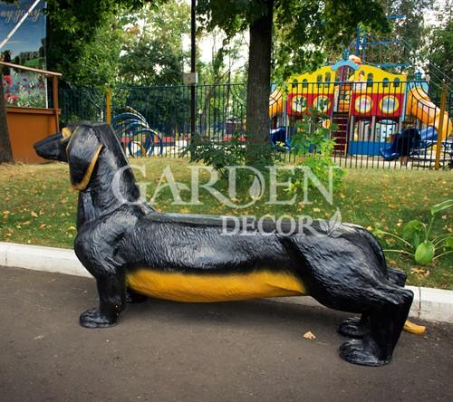 Садовая скамейка собака