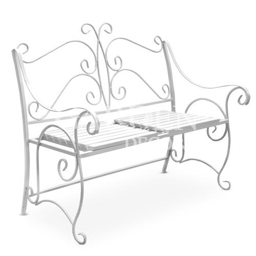 Садовая скамейка - белая серия