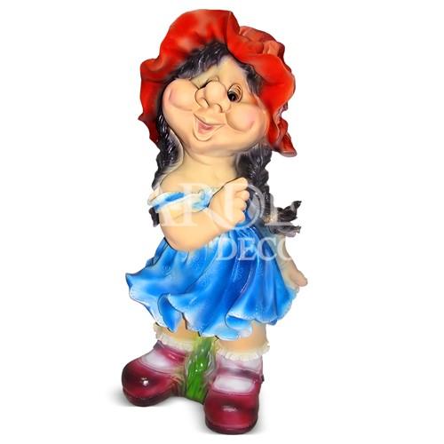 Фигура садовая Девочка кокетка