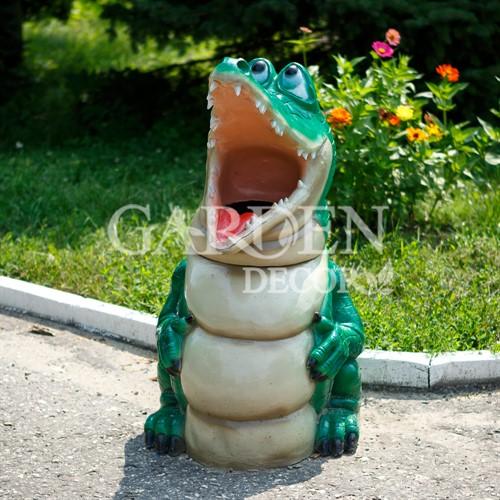 Урна из полистоуна Крокодил