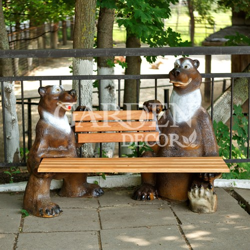 Скамейка для парка Мишки