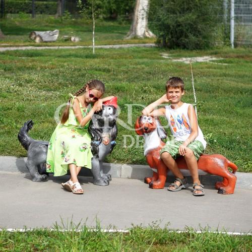 Детские скамейки Собаки