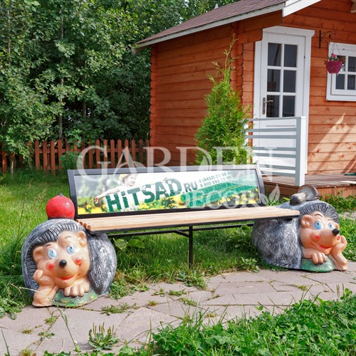 Декоративная скамейка Ежи
