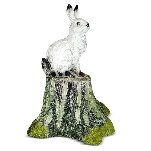Садовая фигура Заяц на пеньке