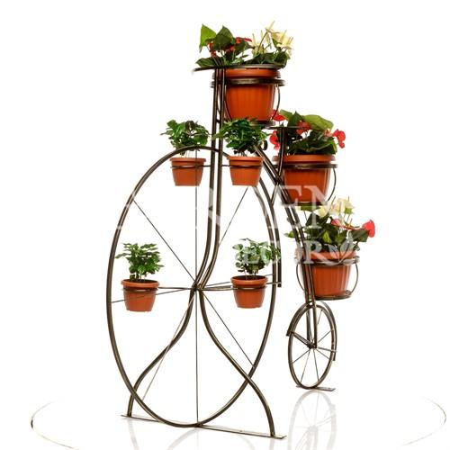 Велосипед для цветов из металла