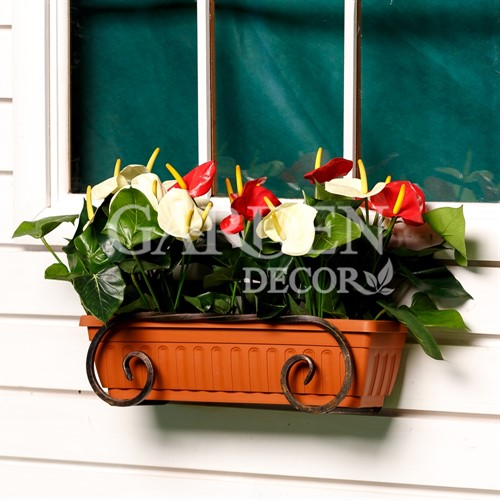 Подвесной кованый кронштейн для цветов