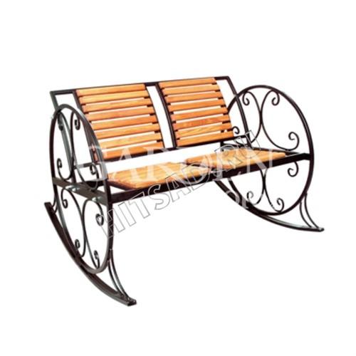 Кресло качалка кованое