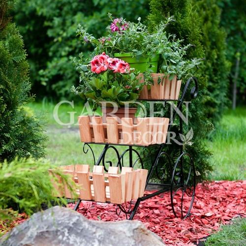 Деревянная подставка для сада