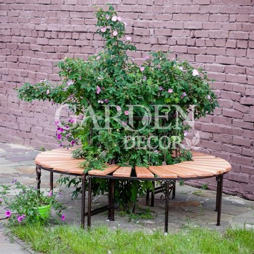Полукруглая скамейка для сада