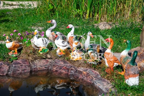Гуси фигуры для сада