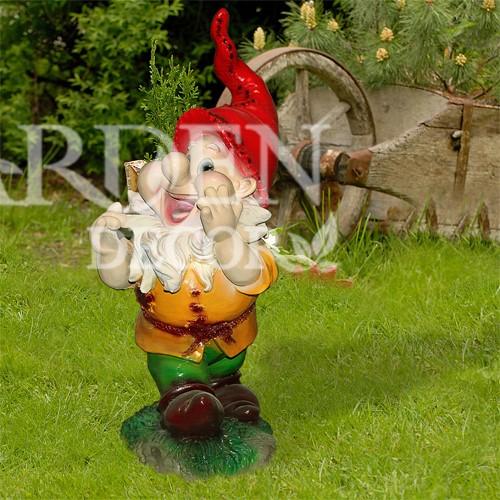 Садовая фигура Гном веселый