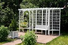Кованые беседки и арки для сада