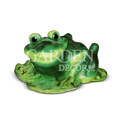 Декоративная фигура Лягушка на листе кувшинки - фото 27954