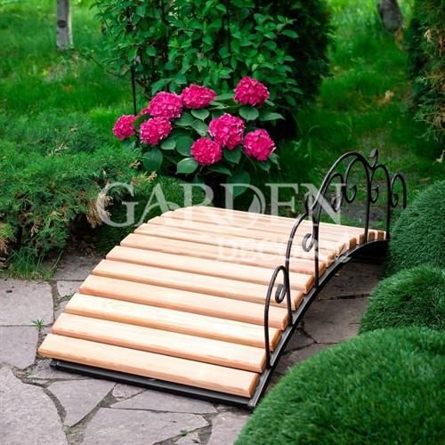 Мостик садовый кованый с деревом 860-46 - фото 39821