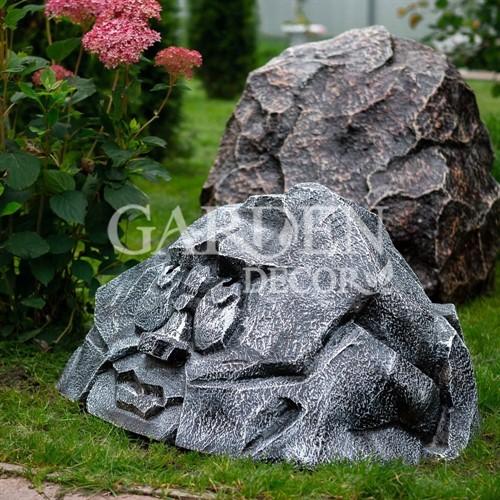 Крышка люка садовая Камень лицо полистоун F07447 - фото 43006