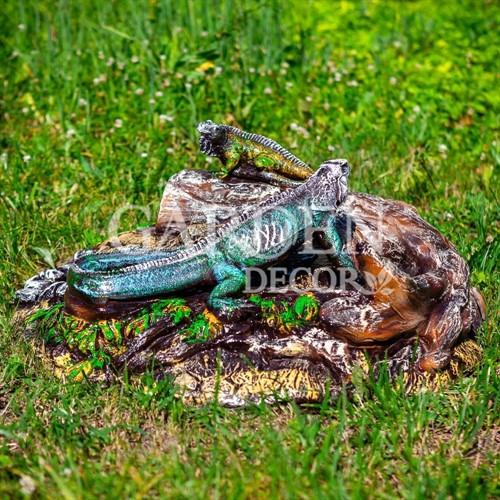 Крышка люка Игуана на бревне F07422 - фото 43009
