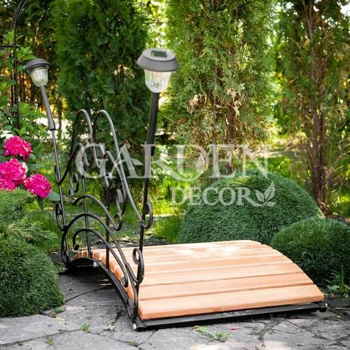 Мост садовый декоративный с фонариками 862-02R - фото 43359