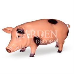 Свинья фигурка садовая