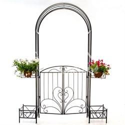 арка для сада с калиткой