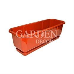 Ящик балконный ДАМА 100*18 коричневый