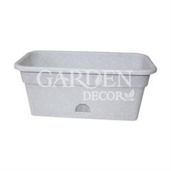 Ящик балконный ДАР 60*20 12л мраморный