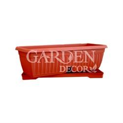 Ящик балконный ТЕРРА 50*19 коричневый