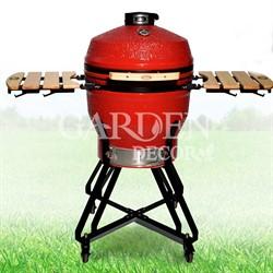 Гриль-барбекю яйцо керамический угольный красный, 56 см/22 дюйма