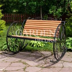 Кресло  качалка с деревом металл чёрный 881-45R