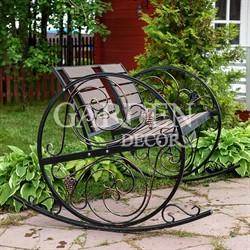 Садовое кресло качалка с ДПК чёрное 881-46R