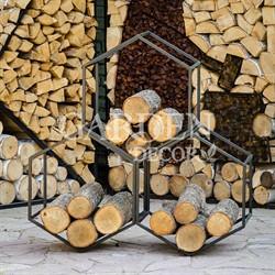 Дровница металл для дачи и дома Лофт Соты 66-917