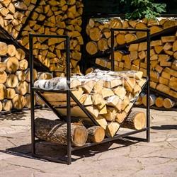 Дровница металл для дачи и дома Лофт открытая 66-909