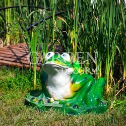 Крышка люка Лягушка на 50 см декоративная