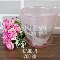 Горшок № 2 алебастр розовый d13
