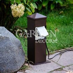 Розетка садовая металлическая низкая 54-702