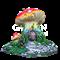 Крышка люка Гриб-домик сказочный - фото 43010