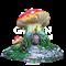 Крышка люка Гриб домик - фото 48535